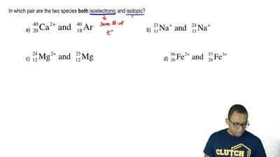 In which pair are the two species  both isoelectronic and isotopic?  ...