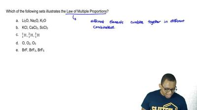 Which of the following sets illustrates the Law of Multiple Proportions?    ...
