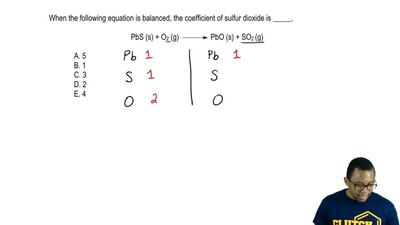 When the following equation is balanced, the coefficient of sulfur dioxide is ...
