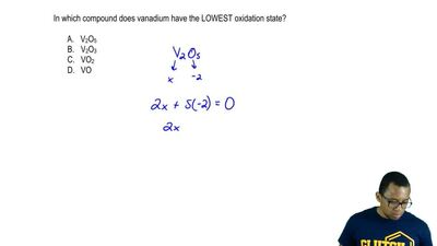 In which compound does vanadium have the LOWEST oxidation state?     A. V2O5  ...