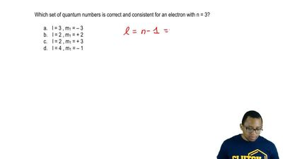 Which set of quantum numbers is correct and consistent for an electron with n ...