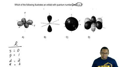 Which of the following illustrates an orbital with quantum numbers n = 5, l = ...