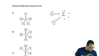 Choose the best Lewis structure for ICl5 . ...