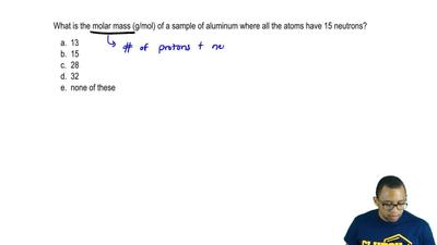 What is the molar mass (g/mol) of a sample of aluminum where all the atoms hav...
