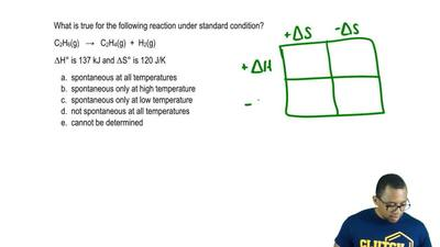 What is true for the following reaction under standard condition?  C2H6 (g) →...