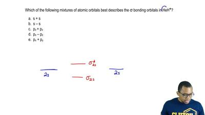 Which of the following mixtures of atomic orbitals best describes the σ bondin...
