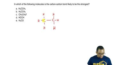In which of the following molecules is the carbon-carbon bond likely to be the...