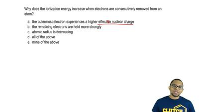 Why does the ionization energy increase when electrons are consecutively remov...