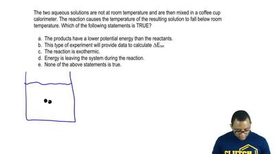 The two aqueous solutions are not at room temperature and are then mixed in a ...