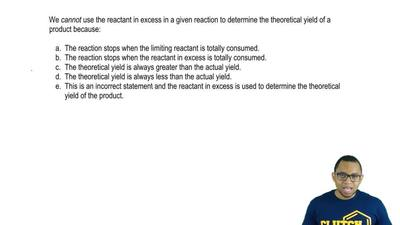 We cannot use the reactant in excess in a given reaction to determine the theo...