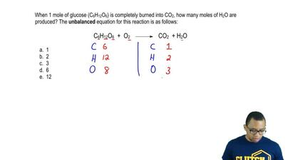 When 1 mole of glucose (C6H12O6) is completely burned into CO2, how many moles...