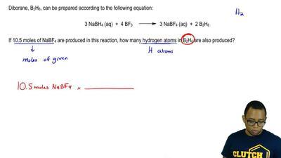 Diborane, B2H6, can be prepared according to the following equation:  3 NaBH4 ...