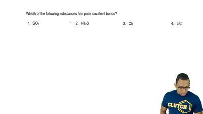 Which of the following substances has polar covalent bonds?  a. SO2  b. Na2S  ...