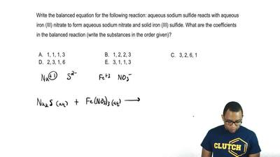 Write the balanced equation for the following reaction: aqueous sodium sulfide...