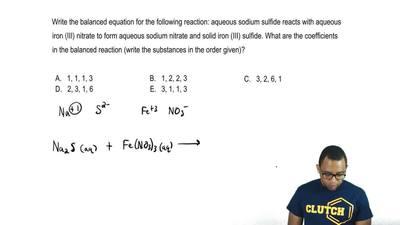 Write the balanced equation for the following reaction: aqueous sodium sulfide...