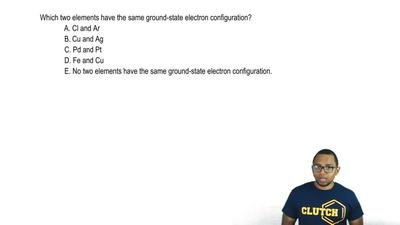 Which two elements have the same ground-state electron configuration?  A. Cl a...