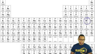 How many core and valence electrons does an atom of bromine possess?  A. 18 co...