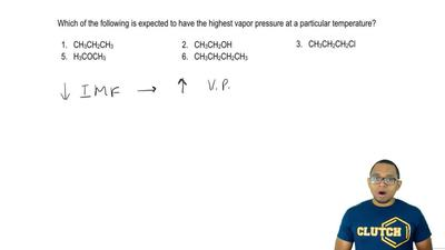 Which of the following is expected to have the highest vapor pressure at a par...