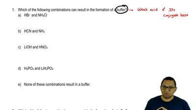 Which of the following combinations can result in the formation of a buffer?  ...