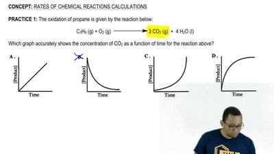 The oxidation of propane is given by the reaction below:  C3H8 (g) + O2 (g) → ...