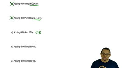 A buffer solution is comprised of 50.0 mL of a 0.100 M HC2H3O2 and 60.0 mL of...