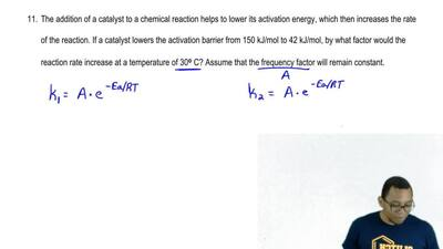 The addition of a catalyst to a chemical reaction helps to lower its activatio...