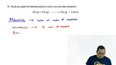 Would you expect the following reaction to occur via a one-step mechanism:  CH...