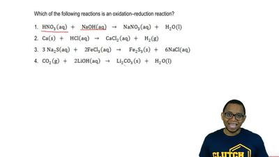 Which of the following reactions is an oxidation-reduction reaction?  1. HNO3...