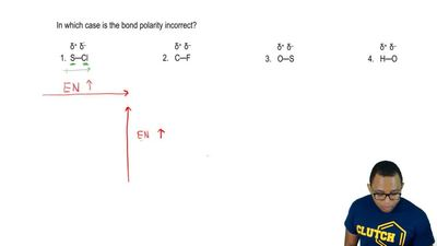 In which case is the bond polarity incorrect?      δ+  δ-             δ  +  δ-...