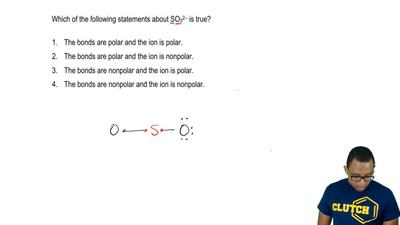 Which of the following statements about SO 32- is true?  1. The bonds are pola...