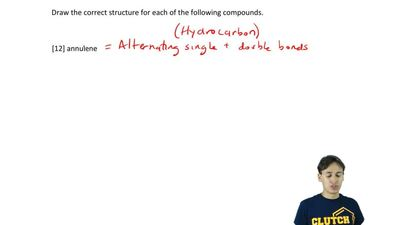 Draw the correct structure for the following compound.  [12] annulene ...