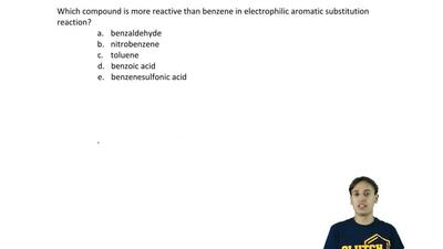 Which compound is more reactive than benzene in electrophilic aromatic substit...