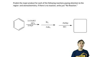 Predict the major product for each of the following reactions paying attention...