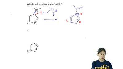 Which hydrocarbon is least acidic?    ...