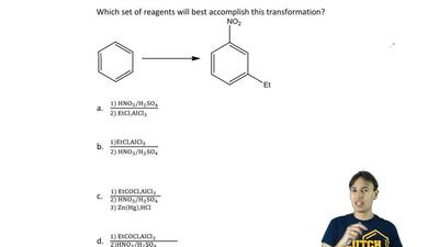 Which set of reagents will best accomplish this transformation?       ...