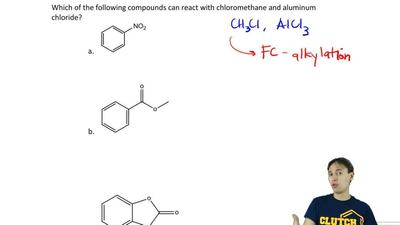Which of the following compounds can react with chloromethane and aluminum chl...