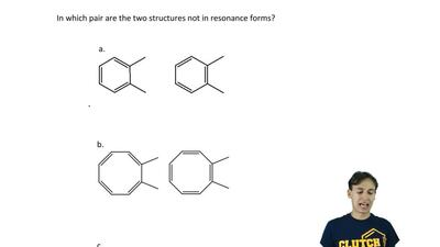 In which pair are the two structures not in resonance forms?    ...