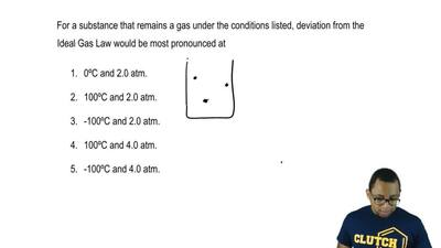 For a substance that remains a gas under the conditions listed, deviation from...