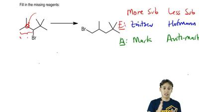 Fill in the missing reagents:    ...