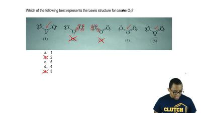 Which of the following best represents the Lewis structure for ozone O 3?  a. ...