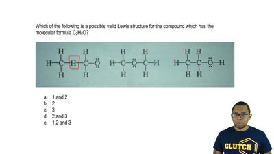 Which of the following is a possible valid Lewis structure for the compound wh...