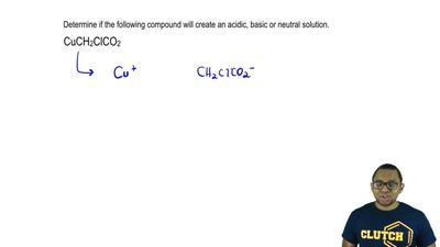 Determine if the following compound will create an acidic, basic or neutral so...