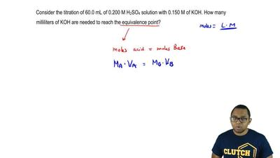 Consider the titration of 60.0 mL of 0.200 M H 2SO4 solution with 0.150 M of K...