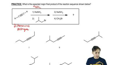 What is the expected major final product of the reaction sequence shown below?...