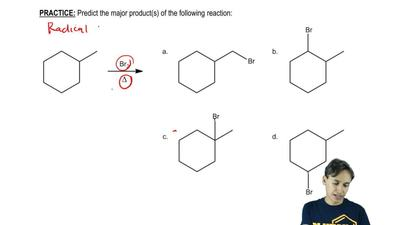 Predict the major product(s) of the following reaction:   ...