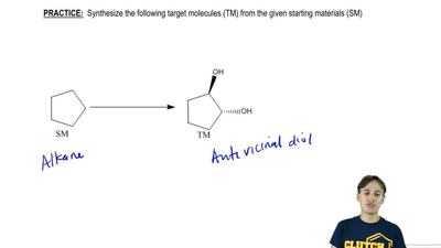 Synthesize the following target molecules (TM) from the given starting materia...