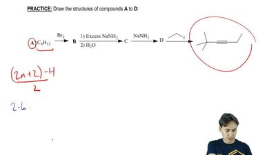 Draw the structures of compounds A to D: ...