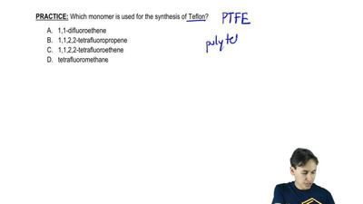 Which monomer is used for the synthesis of Teflon?   1,1-difluoroethene 1,1,...