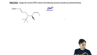 Assign the correct IUPAC name to the following structure (include any stereoch...