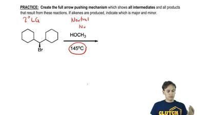 Create the full arrow pushing mechanism which shows all intermediates and all ...